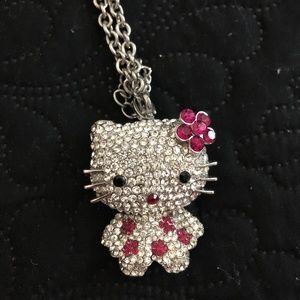 Hello KITTY style Rhinestone necklace